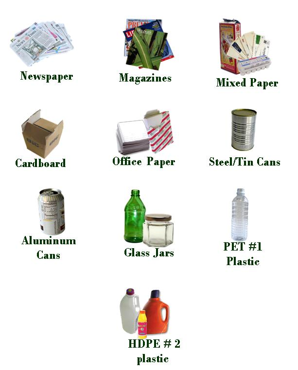 What your recyclables become for Waste material to useful products